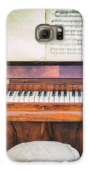 Galaxy S6 Case featuring the photograph Antique Piano And Music Sheet by Silvia Ganora