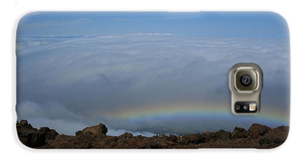 Anuenue - Rainbow At The Ahinahina Ahu Haleakala Sunrise Maui Hawaii Galaxy S6 Case