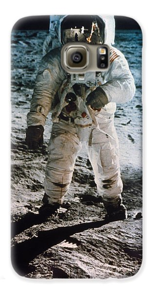 Astronauts Galaxy S6 Case - Apollo 11 Buzz Aldrin - To License For Professional Use Visit Granger.com by Granger