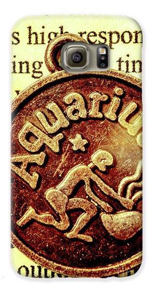 Galaxy S6 Case featuring the photograph Aquarius Zodiac Sign by Jorgo Photography - Wall Art Gallery