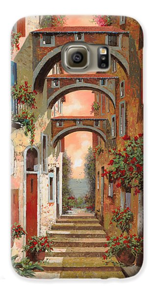 Town Galaxy S6 Case - Archetti In Rosso by Guido Borelli
