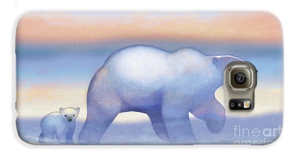 Arctic Bears, Journeys Bright Galaxy S6 Case