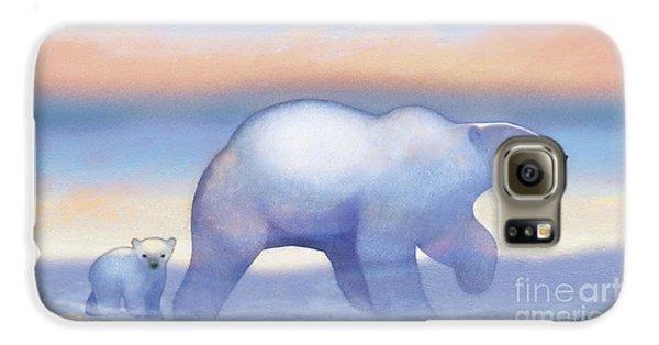 Arctic Bears, Journeys Bright Galaxy S6 Case by Tracy Herrmann