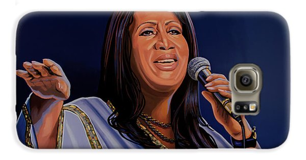 Harlem Galaxy S6 Case - Aretha Franklin Painting by Paul Meijering