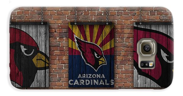 Arizona Cardinals Brick Wall Galaxy S6 Case by Joe Hamilton