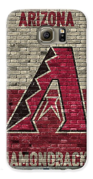 Arizona Diamondbacks Brick Wall Galaxy S6 Case by Joe Hamilton