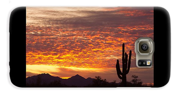 Arizona November Sunrise With Saguaro   Galaxy S6 Case by James BO  Insogna