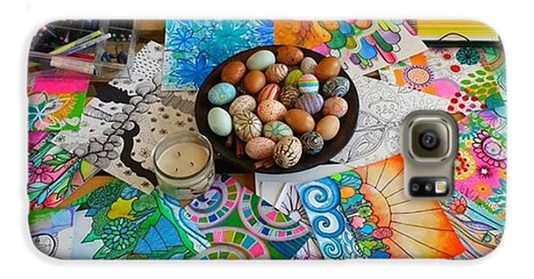 Galaxy S6 Case - #art #artsupplies And #fresheggs..ready by Robin Mead