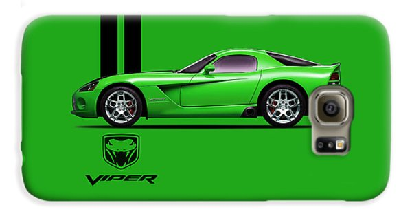 Dodge Viper Snake Green Galaxy S6 Case by Mark Rogan
