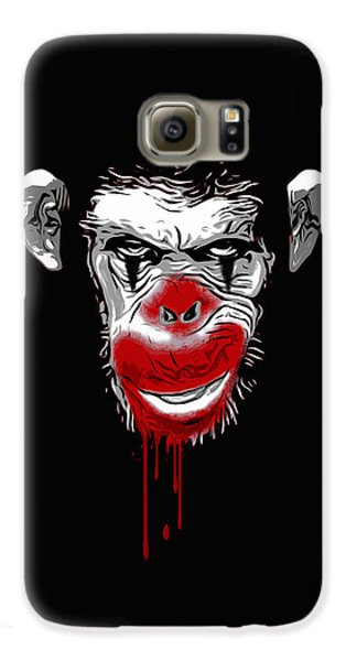 Ape Galaxy S6 Case - Evil Monkey Clown by Nicklas Gustafsson