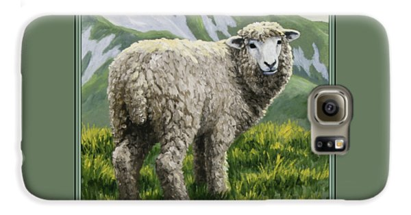 Sheep Galaxy S6 Case - Highland Ewe by Crista Forest
