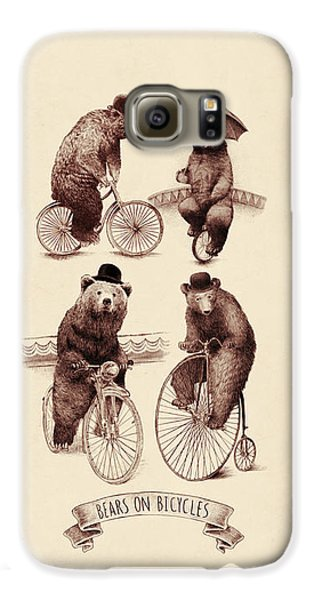 Bears On Bicycles Galaxy S6 Case by Eric Fan