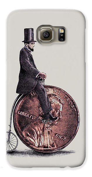 Transportation Galaxy S6 Case - Penny Farthing by Eric Fan