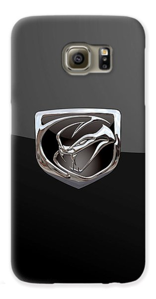 Viper Galaxy S6 Case - Dodge Viper - 3d Badge On Black by Serge Averbukh
