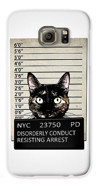 Kitty Mugshot Galaxy S6 Case by Nicklas Gustafsson