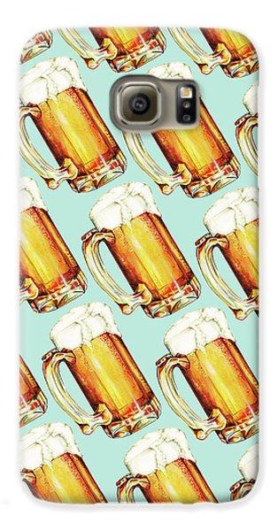 Beer Pattern Galaxy S6 Case by Kelly Gilleran
