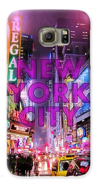 Broadway Galaxy S6 Case - New York City - Color by Nicklas Gustafsson