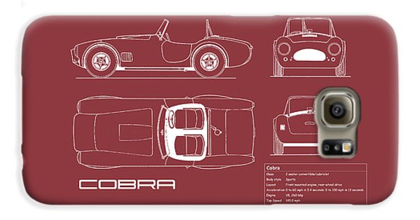 Ac Cobra Blueprint - Red Galaxy S6 Case