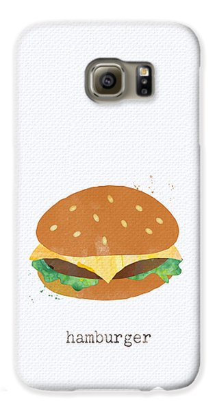 Hamburger Galaxy S6 Case by Linda Woods
