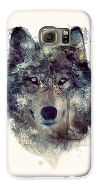 Wolf // Persevere Galaxy S6 Case by Amy Hamilton