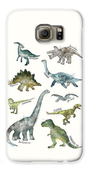 Dinosaurs Galaxy S6 Case by Amy Hamilton