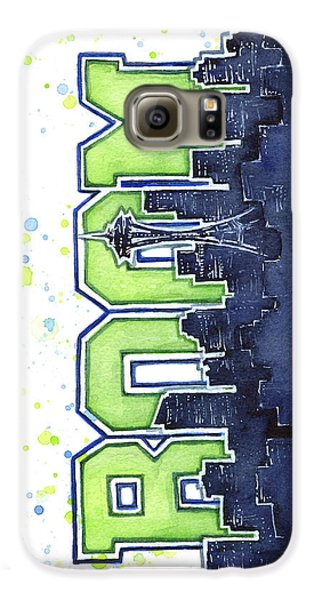 Seattle Galaxy S6 Case - Seattle 12th Man Legion Of Boom Painting by Olga Shvartsur