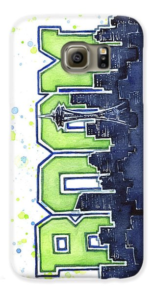 Seattle 12th Man Legion Of Boom Painting Galaxy S6 Case by Olga Shvartsur