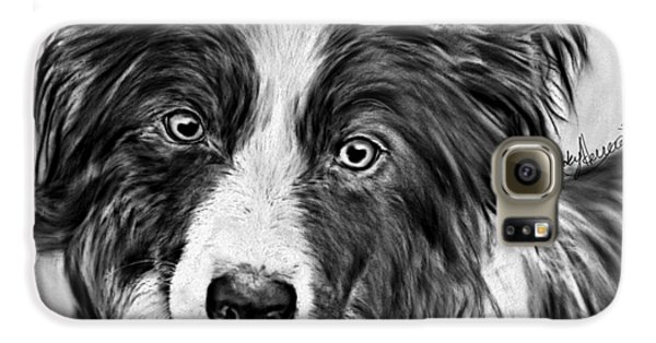 Border Collie Stare Galaxy S6 Case