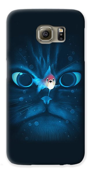 Cat Fish Galaxy S6 Case by Nicholas Ely