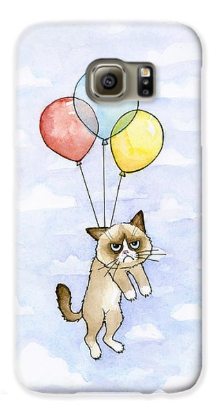 Grumpy Cat And Balloons Galaxy S6 Case