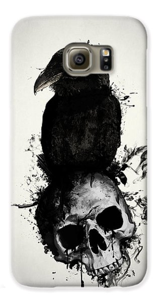 Raven And Skull Galaxy S6 Case by Nicklas Gustafsson