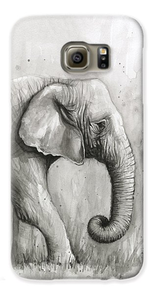 Elephant Watercolor Galaxy S6 Case