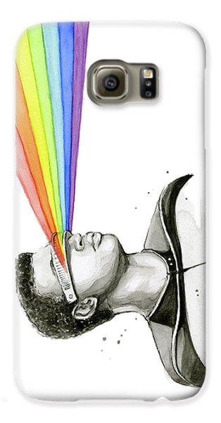 Science Fiction Galaxy S6 Case - Geordi Sees The Rainbow by Olga Shvartsur