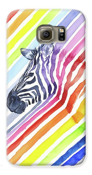 Rainbow Zebra Pattern Galaxy S6 Case