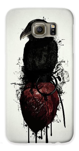 Crow Galaxy S6 Case - Raven And Heart Grenade by Nicklas Gustafsson