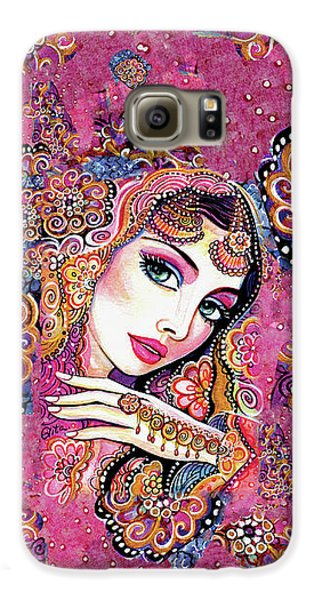Galaxy S6 Case featuring the painting Kumari by Eva Campbell