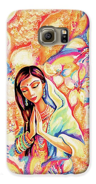 Galaxy S6 Case featuring the painting Little Himalayan Pray by Eva Campbell