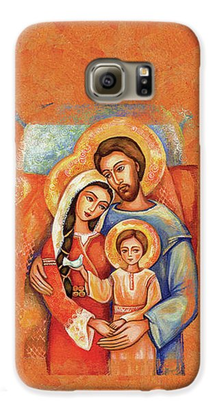 Galaxy S6 Case featuring the painting The Holy Family by Eva Campbell