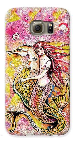 Black Sea Mermaid Galaxy S6 Case