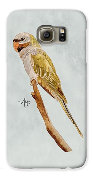 Derbyan Parakeet Galaxy S6 Case by Angeles M Pomata