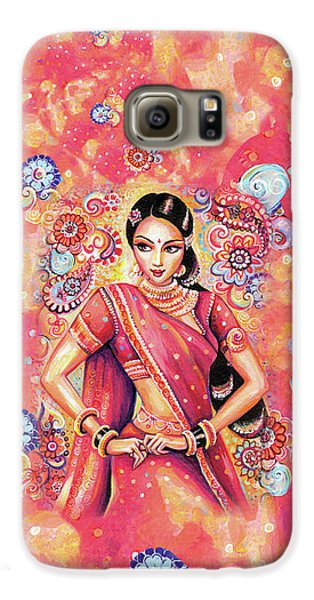Galaxy S6 Case featuring the painting Devika Dance by Eva Campbell