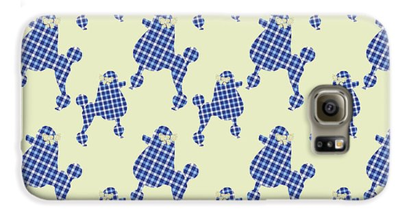 Galaxy S6 Case featuring the mixed media French Poodle Plaid by Christina Rollo