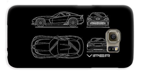 Srt Viper Blueprint Galaxy S6 Case by Mark Rogan