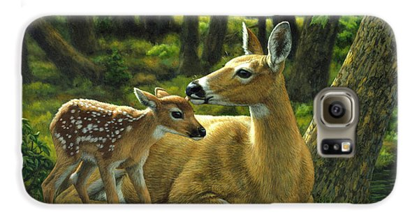 Whitetail Deer - First Spring Galaxy S6 Case by Crista Forest