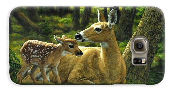 Whitetail Deer - First Spring Galaxy S6 Case
