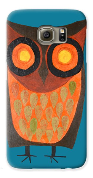Give A Hoot Orange Owl Galaxy S6 Case