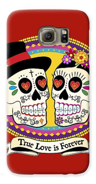 Los Novios Sugar Skulls Galaxy S6 Case