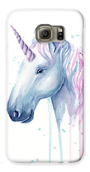 Unicorn Galaxy S6 Case - Cotton Candy Unicorn by Olga Shvartsur