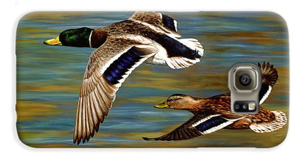 Duck Galaxy S6 Case - Golden Pond by Crista Forest