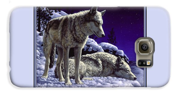 Wolf Painting - Night Watch Galaxy S6 Case